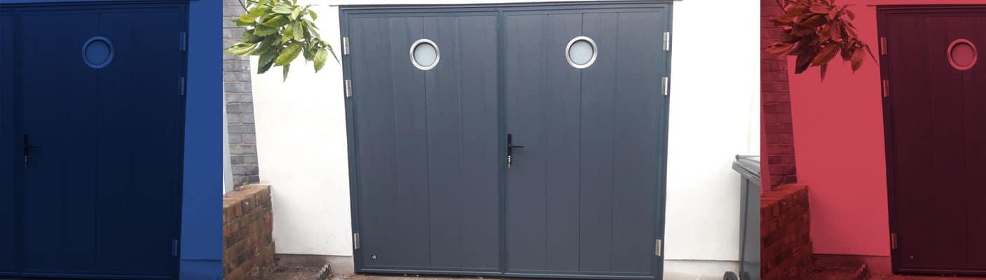 side hinged garage doors andover